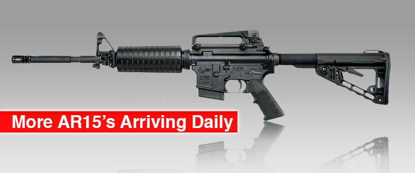 AR15 Rifles Arriving Daily